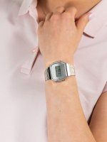 srebrny Zegarek Casio VINTAGE Maxi A168WEM-7EF - duże 5