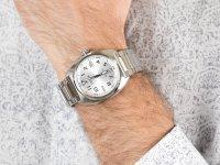 srebrny Zegarek Citizen Automat NJ0100-89A - duże 6