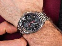 srebrny Zegarek Citizen Radio Controlled AT9030-55E - duże 6