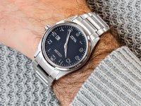 srebrny Zegarek Citizen Titanium BM7360-82M - duże 6