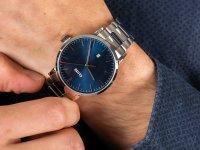 Cluse CW0101501011 Aravis steel silver dark blue zegarek klasyczny Aravis