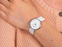 srebrny Zegarek Cluse Minuit CL30060 - duże 6