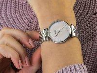 Cluse CW0101208013 Silver Salmon Pink Pearl zegarek klasyczny Triomphe