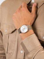 srebrny Zegarek Doxa Slim Line 105.60.021.60 - duże 5