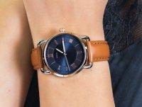srebrny Zegarek Fossil Copeland ES4913SET - duże 6