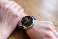 Garett 5903246286458 Smartwatch Garett Women Karen RT czarno-srebrny skórzany zegarek sportowy Damskie