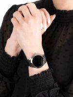 zegarek Garett 5903246287240 Smartwatch Garett Women Naomi RT czarny skórzany damski z krokomierz Damskie