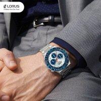 srebrny Zegarek Lorus Sportowe RT331HX9 - duże 11