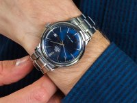 srebrny Zegarek Orient Classic RA-AC0007L10B - duże 6