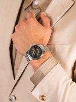 srebrny Zegarek Orient Contemporary FEU00002TW - duże 5