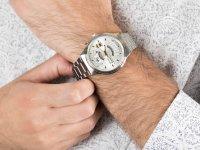 srebrny Zegarek Orient Contemporary FEU00002WW - duże 6