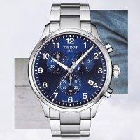 srebrny Zegarek Tissot Chrono XL T116.617.11.047.01 - duże 9
