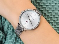 srebrny Zegarek Tommy Hilfiger Damskie 1782113 - duże 6