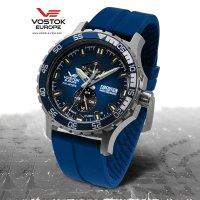 srebrny Zegarek Vostok Europe Expedition Everest Underground YN84-597A545 - duże 5