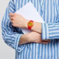 Swatch GR185 zegarek czerwony klasyczny Originals pasek