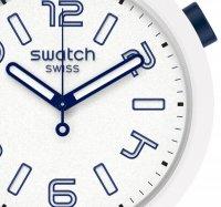 Swatch SO27W102 zegarek niebieski klasyczny Big Bold pasek