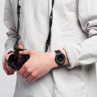 Swatch SS07B103 zegarek czarny klasyczny Skin bransoleta