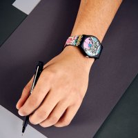 Swatch SUOZ334 zegarek czarny klasyczny Originals pasek