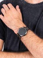 zegarek Fossil Smartwatch FTW4024 GEN 5 SMARTWATCH - THE CARLYLE HR SMOKE STAINLESS STEEL męski z gps Fossil Q