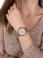 Timex TW2P66900 zegarek złoty klasyczny Miami bransoleta