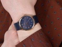 Timex TW2U22400 zegarek różowe złoto klasyczny Easy Reader pasek