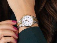 Timex TW2U40400 zegarek srebrny klasyczny Easy Reader bransoleta