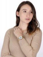 Timex TW2U67100 zegarek złoty klasyczny Celestial Opulence bransoleta