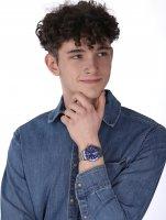 Timex TW2U71800 zegarek srebrny klasyczny Harborside bransoleta