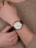 Tommy Hilfiger 1791208 zegarek srebrny fashion/modowy Męskie pasek