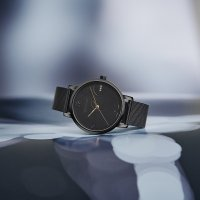 Wenger 01.1731.124 zegarek czarny klasyczny Metropolitan bransoleta
