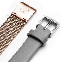 Adriatica A3646.9117QGR-SET zegarek różowe złoto klasyczny Bransoleta bransoleta