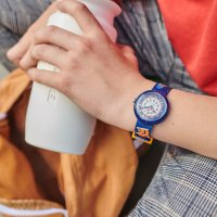 Flik Flak FBNP164 zegarek niebieski klasyczny Story Time pasek