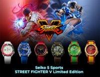 Seiko SRPF17K1 5 Sports Automatic Street Fighter V Limited Edition Sports Automat sportowy zegarek srebrny