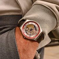 Swatch SS07Z102 zegarek srebrny klasyczny Skin pasek