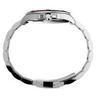 Timex TW2U71900 zegarek srebrny klasyczny Harborside bransoleta