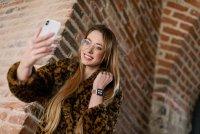 zegarek Garett 5903246287080 Smartwatch Garett Women Eva RT złoty stalowy Damskie z tworzywa sztucznego