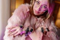 zegarek Garett 5903246287172 Smartwatch Garett Women Nicole RT srebrny Damskie z tworzywa sztucznego