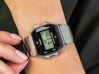 Zegarek A158WEAD-1EF Casio VINTAGE Midi BLACK AND SILVER WITH DIAMOND LIMITED szkło akrylowe - duże 6
