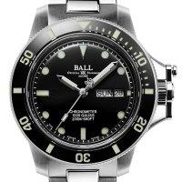 Ball DM2118B-SCJ-BK zegarek srebrny klasyczny Engineer Hydrocarbon bransoleta