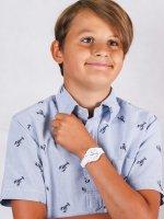 Zegarek biały fashion/modowy  Damskie 2030003 pasek - duże 4