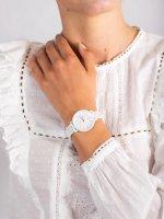 Zegarek biały fashion/modowy Fossil Jacqueline ES4397 bransoleta - duże 5