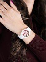 Zegarek biały fashion/modowy ICE Watch Ice-Flower ICE.016657 pasek - duże 5