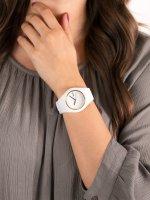 Zegarek biały fashion/modowy ICE Watch Ice-Glam ICE.000917 pasek - duże 5