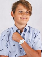 Zegarek biały sportowy  Dla dzieci RRX21GX9 pasek - duże 4
