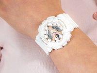 Zegarek biały sportowy Casio Baby-G BA-110RG-7AER pasek - duże 6