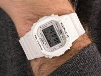 Zegarek biały sportowy Casio G-SHOCK Original DW-5600MWVCF-7ER pasek - duże 6