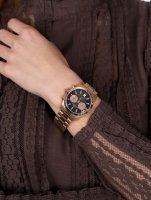zegarek Bisset BSBE22RIBR05AX damski z chronograf Biżuteryjne