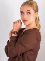 Zegarek brązowy klasyczny Meller Denka W3CC-2COFFEE bransoleta - duże 4
