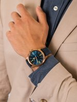 Zegarek brązowy klasyczny Traser P67 Officer Pro TS-108074 pasek - duże 5