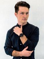 Zegarek czarny Bisset Klasyczne BSDF34BIBZ05AX bransoleta - duże 4